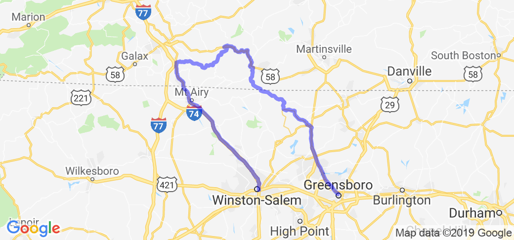 Greensboro, NC - Blue Ridge Pkwy - Winston-Salem |  Virginia