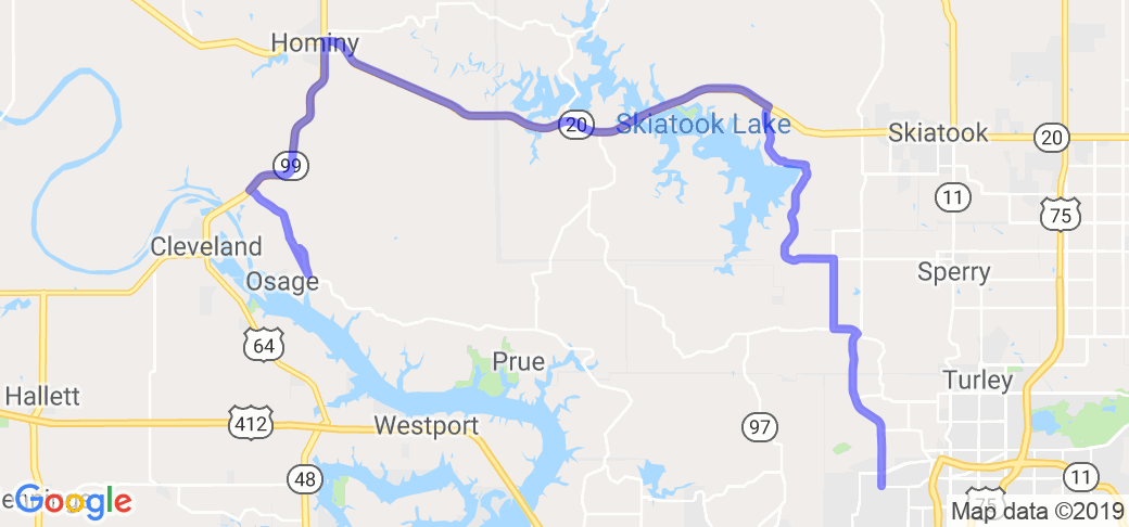 The Keystone Lake to Skiatook Lake Run |  Oklahoma