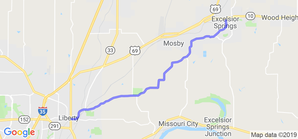 County Road H from Liberty MO to Excelsior Springs |  Missouri