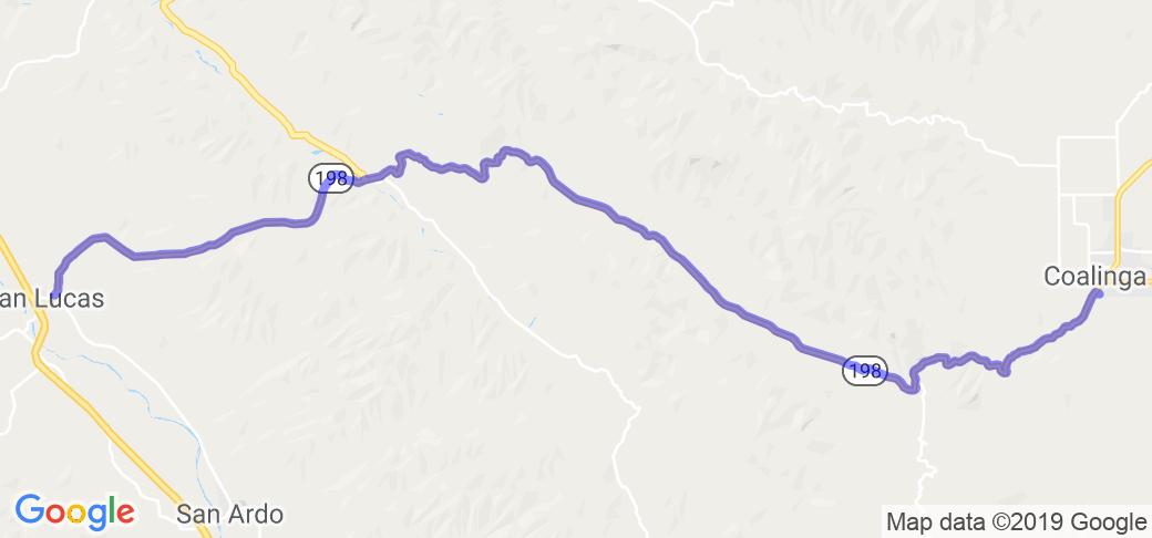 SR-198 - Coalinga to San Lucas |  California
