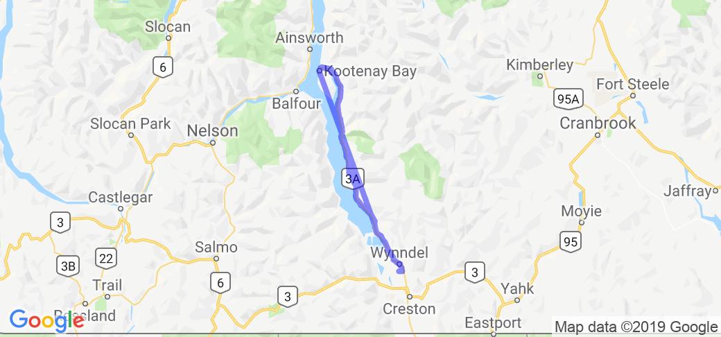 Creston to Kootenay Bay (British Columbia, Canada) |  Canada