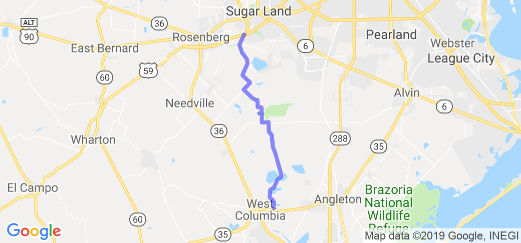 Crabb River Road to East Columbia |  Texas