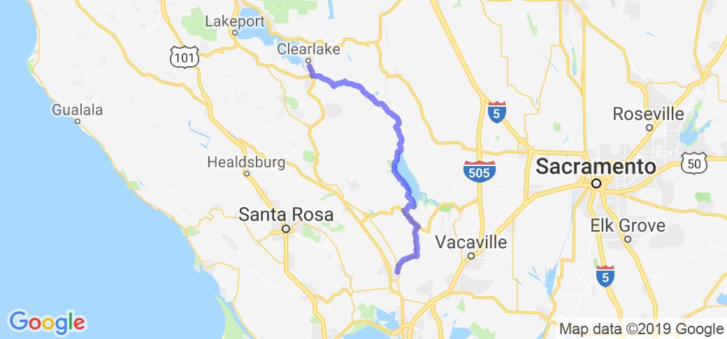 Napa to the Shores of Lake Berryessa    California
