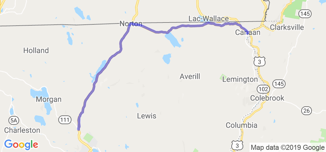 Route 114 Through The Kingdom State Forest |  Vermont