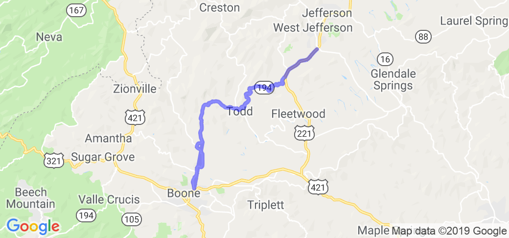 Short Scenic Ride - Hwy 94 |  North Carolina
