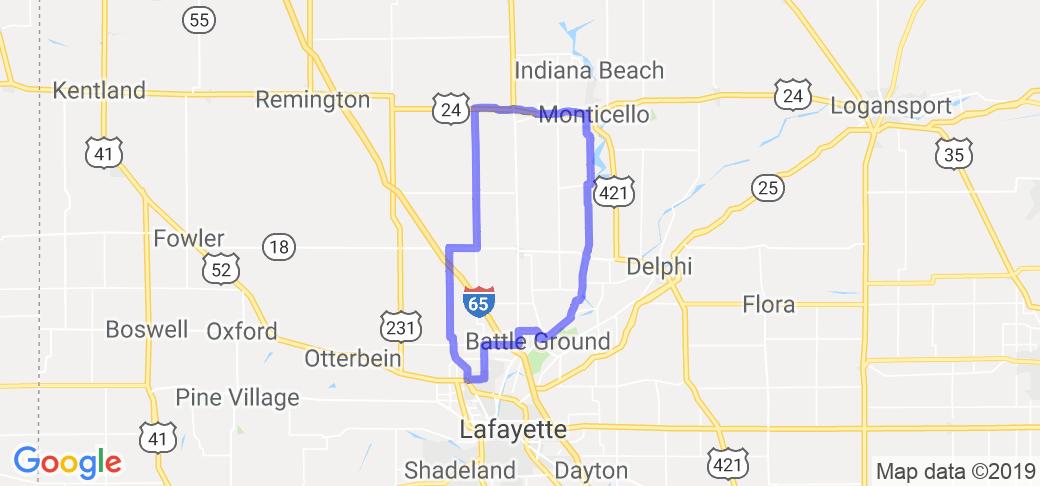 Lafayette Area Route 1 |  Indiana