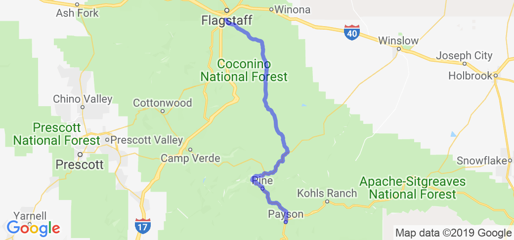 Lake Mary Rd from Flagstaff to Payson |  Arizona