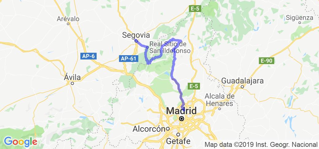 Madrid to Segovia through Navacerrada Mountains |  Spain