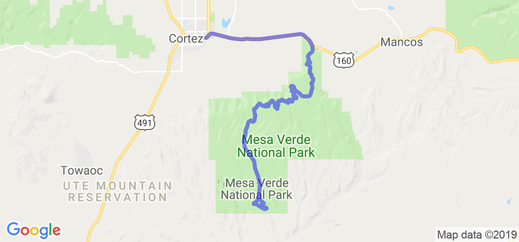 Cortez to Mesa Verde National Park | Route Ref. #34819 ...