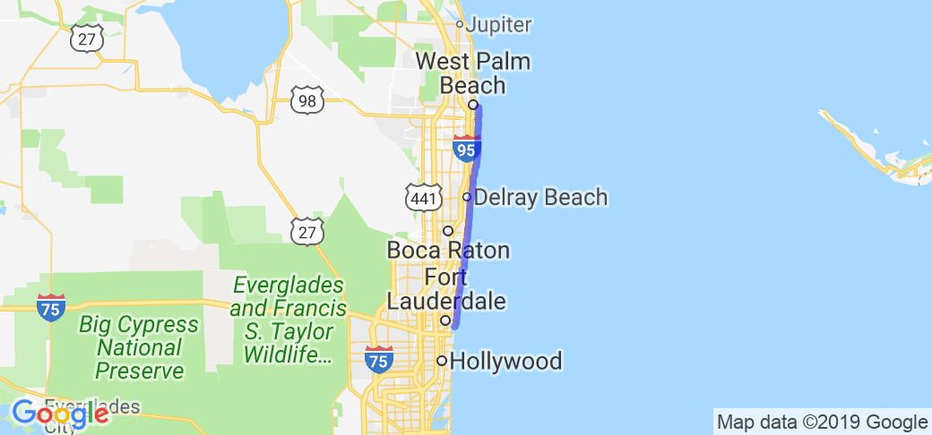 Ft. Lauderdale to West Palm Beach on 1A |  Florida