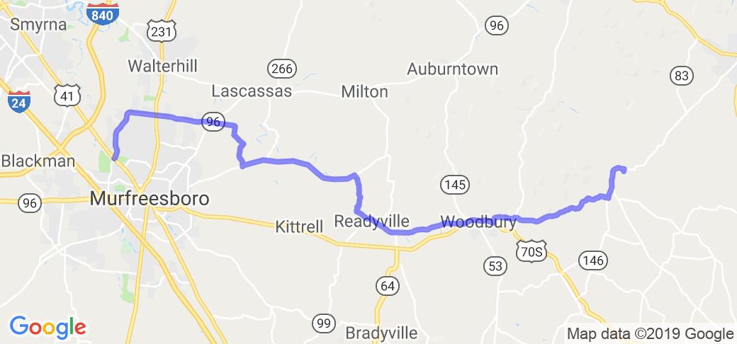 Mid-TN Ramble - Murfreesboro to Woodbury |  Tennessee