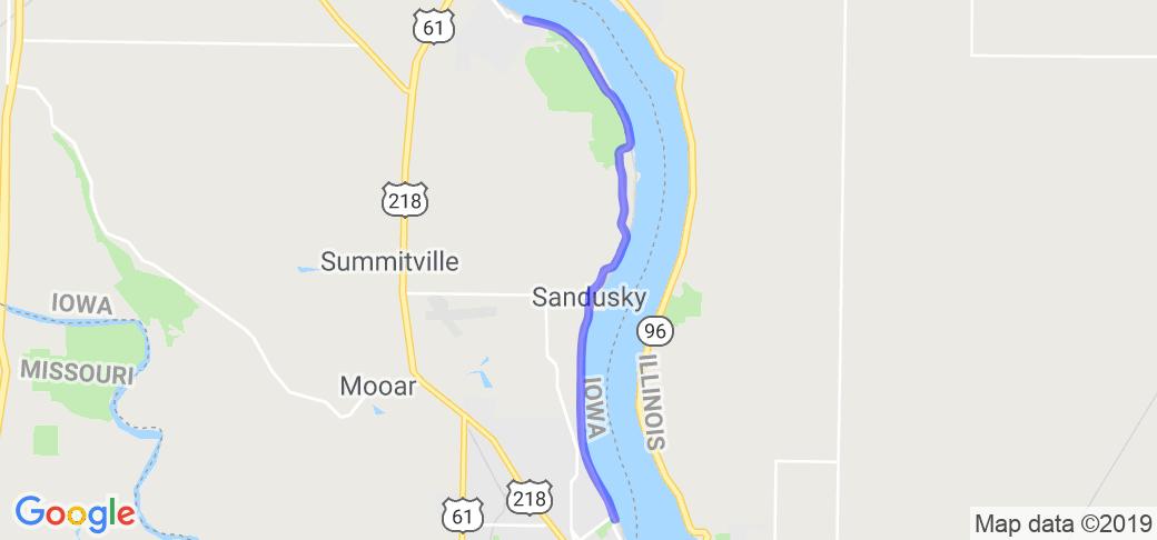 Mississippi River Road North of Keokuk |  Iowa