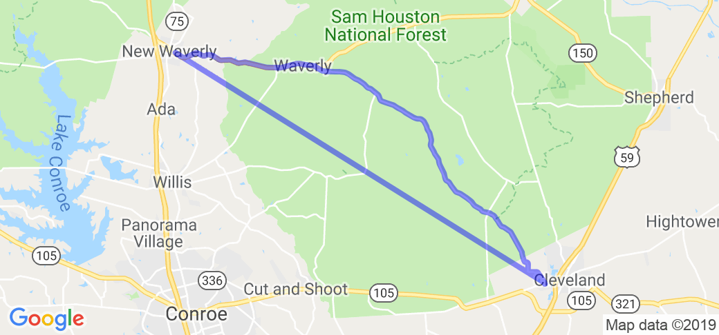 Sam Houston National Forest - Hill Store Road |  Texas