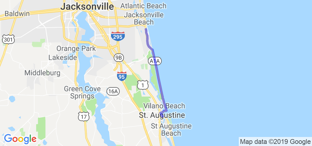 St Augustine to Guana River State Park |  Florida