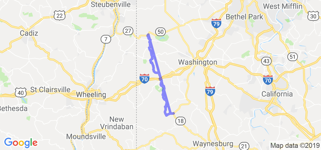 Pennsylvania Route 231 - Avella, PA to near Nineveh, PA - |  Pennsylvania