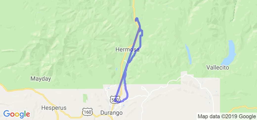County Road Alternative to 550 North outta Durango |  Colorado