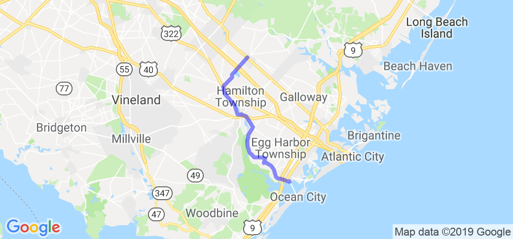 Somers Point to Elwood/Wharton State Forest |  New Jersey