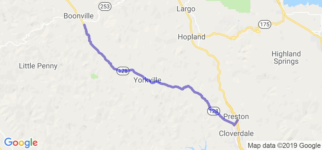 Cloverdale-Boonville-Hopland Grade, Part 1 |  California