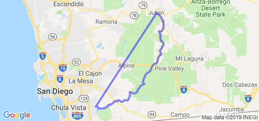 Chula Vista to Julian |  California
