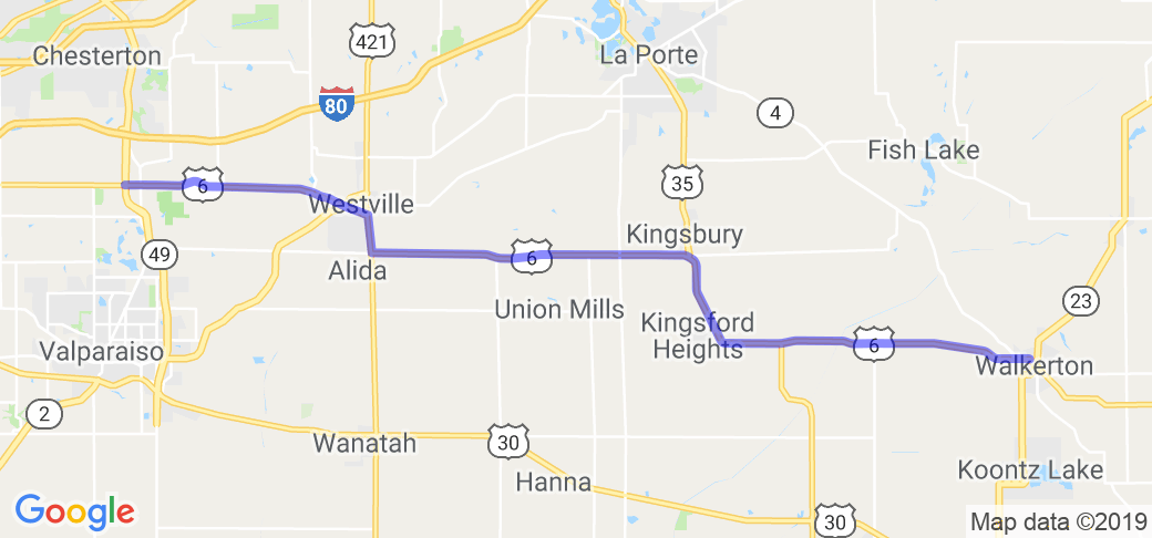 US Hwy 6 |  Indiana