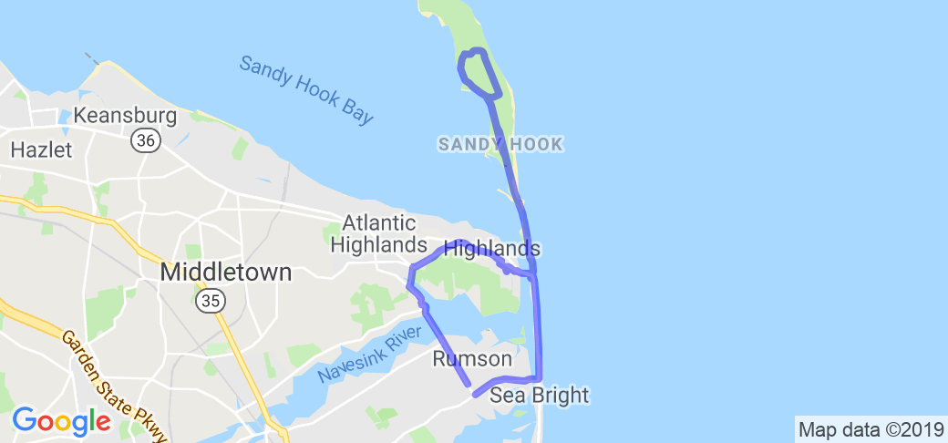 Northeastern New Jersey Triangle: Rumson-Sandy Hook-Sea Bright |  New Jersey
