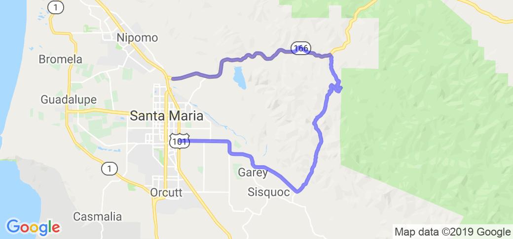 Twist of Tepusquet Loop |  California