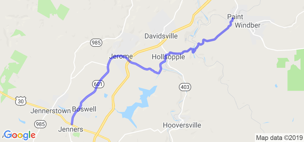 PA Route 601 - Jenners to Windber |  Pennsylvania
