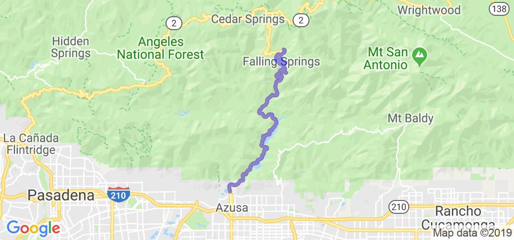 San Gabriel Canyon Road Hwy 39 |  California