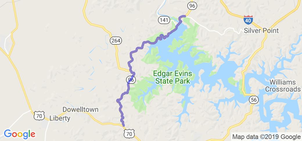 The Center Hill Dam Run    Tennessee