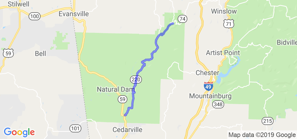 AR 220 from Devil's Den State Park to Cedarville |  Arkansas
