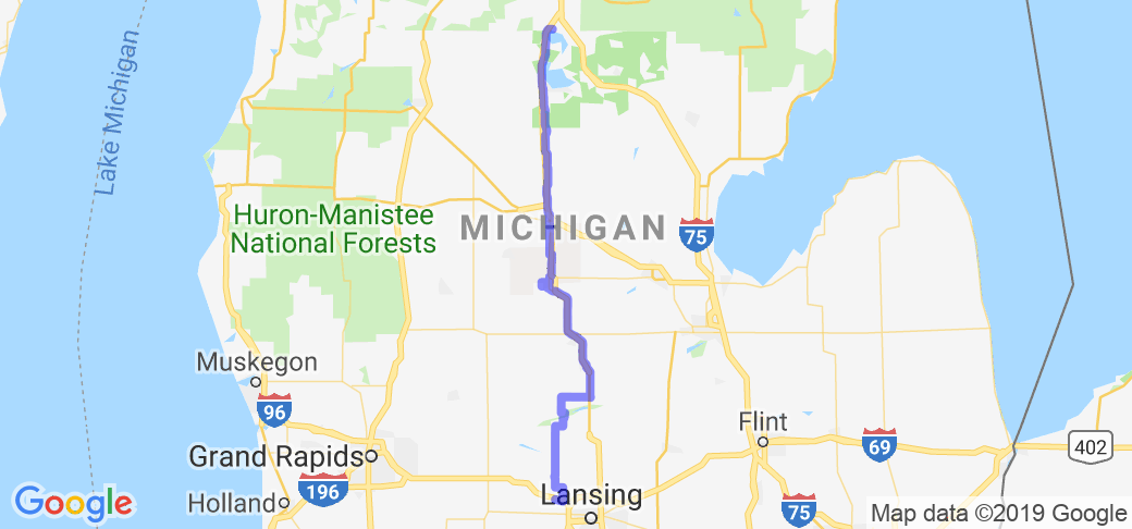 Central Michigan Excursion - Grand Ledge to N. Higgins Lake (US127 Alternate Route) |  Michigan