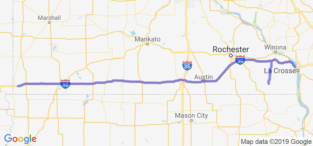 MN to Sturgis Run First Leg - I-90 West |  Minnesota