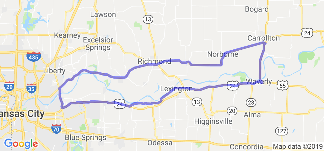"The ""Big MO"" River Ride Loop 