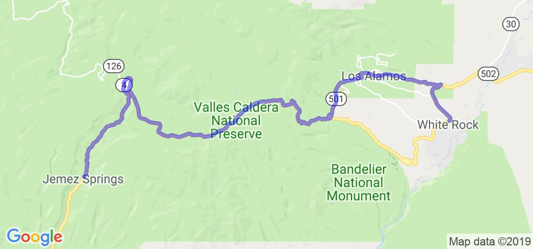 Rt. 4 - White Rock to Jemez Springs |  New Mexico