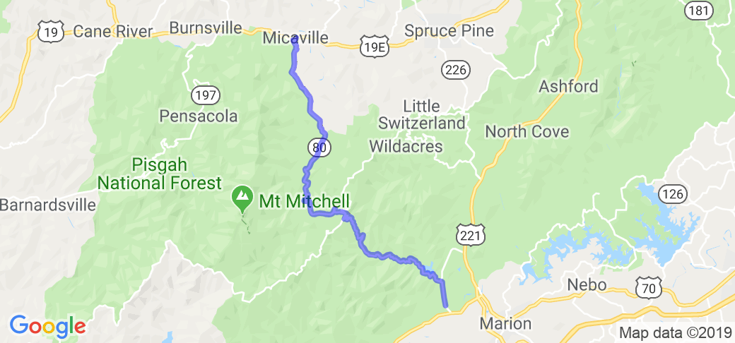 North Carolina's Route 80 (AKA Devil's Whip) |  North Carolina