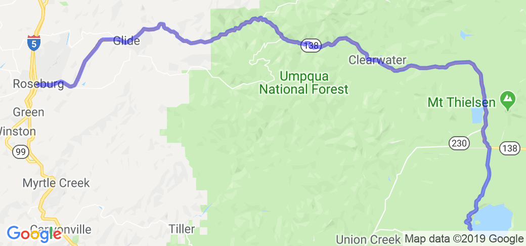 Roseburg to Crater Lake on Wonderful 138 |  Oregon