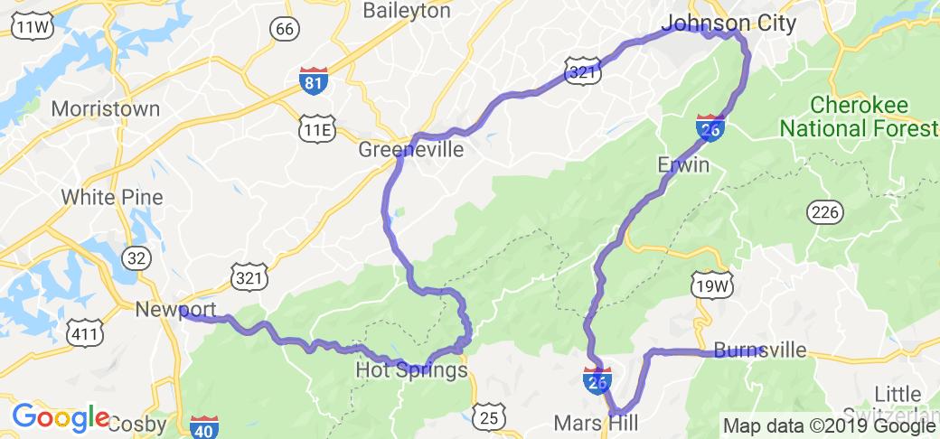 A taste of the Appalachians via 25, 208, 321, 19 |  North Carolina