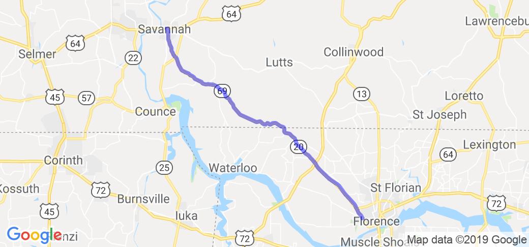 TN HWY 69 & AL HWY 20 - Savanna Highway |  Tennessee