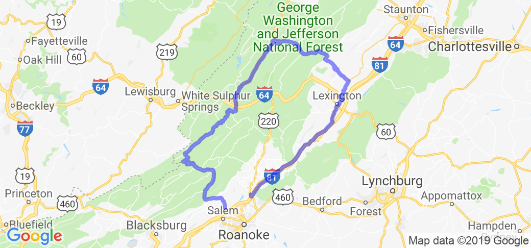 Western Virginia Appalachian Mountain Loop |  Virginia