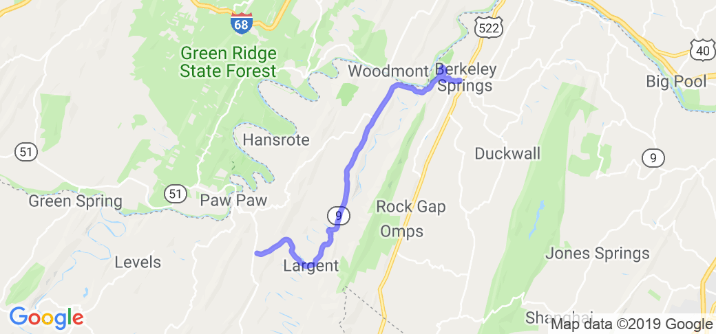 WV State Rt. 9 - Berkeley Springs to Paw Paw, WV |  West Virginia