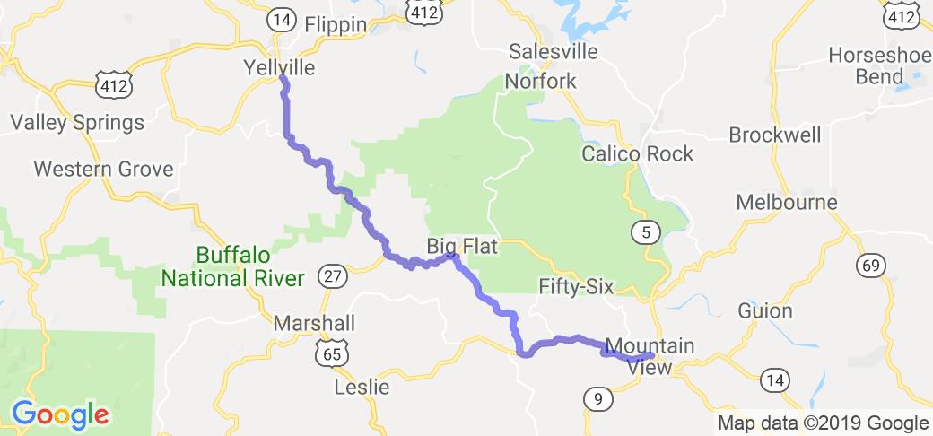 Bull Shoals Area to Mountain View Along Route 14 |  Arkansas