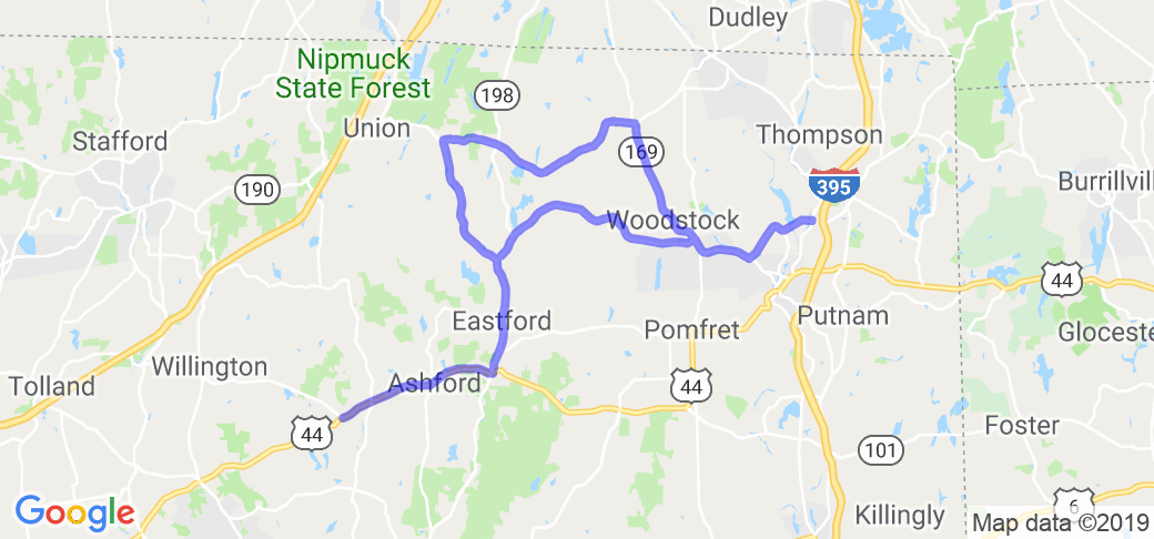 Northeast CT. Country Loop |  Connecticut