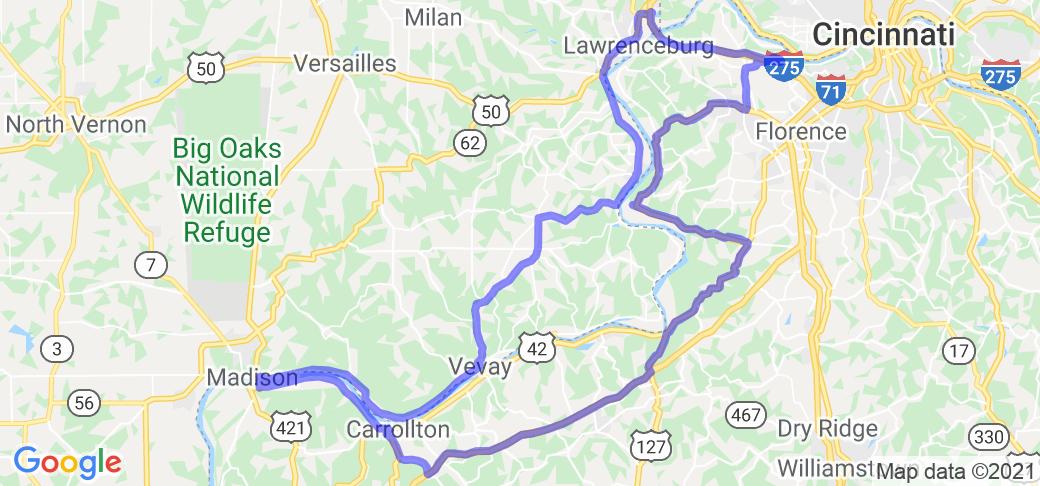 Big Lick Ride/Ohio River hugging loop |  Kentucky