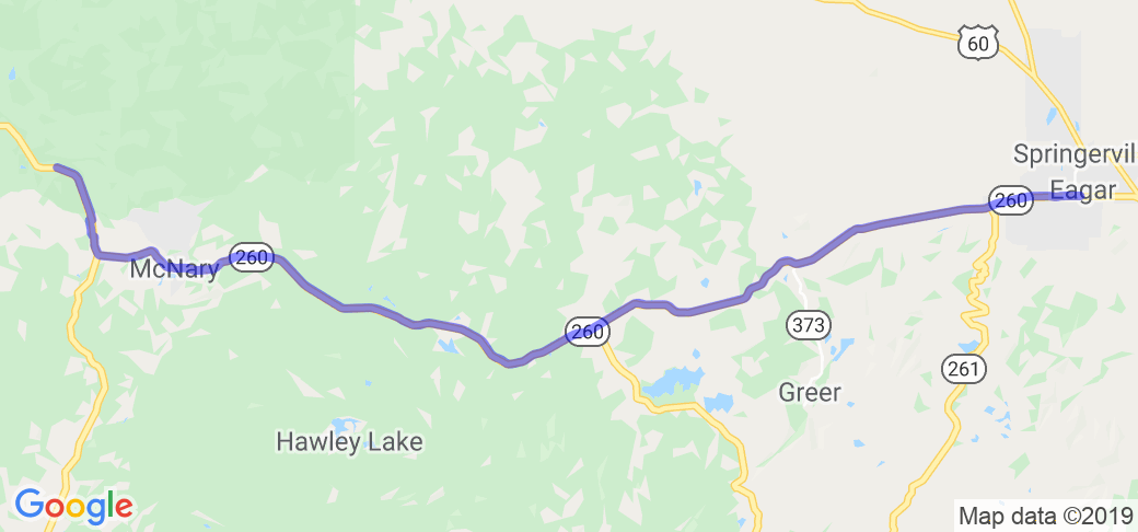 Pinetop to Eagar on Route 260 |  United States