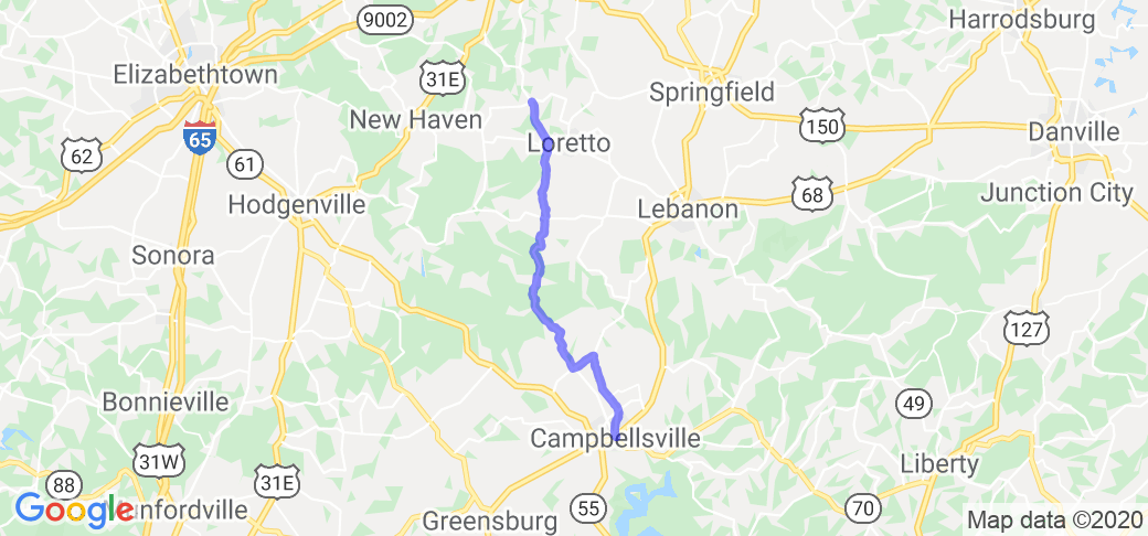 Campbellsville to Holy Cross KY |  Kentucky