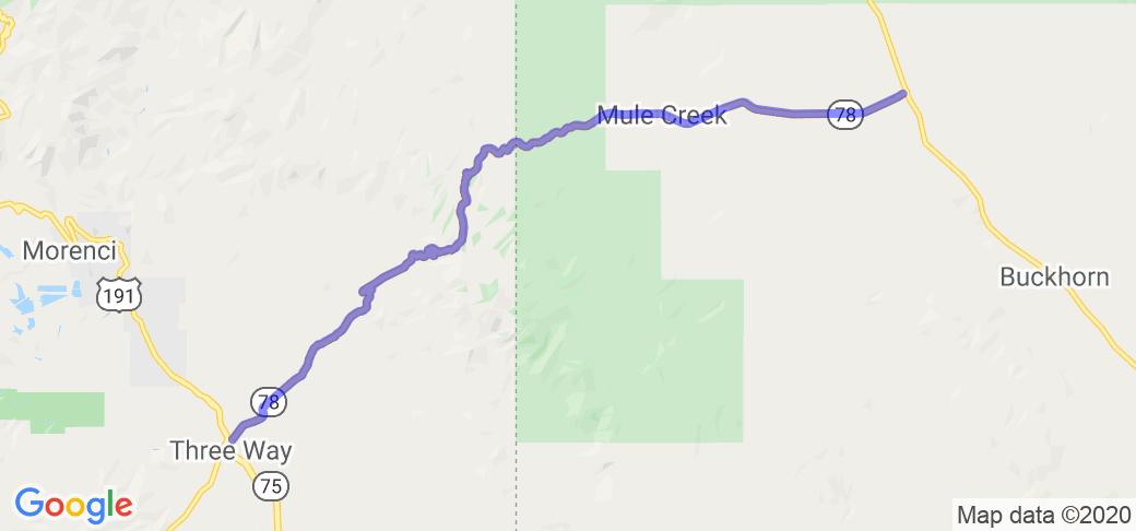 Three Way AZ through Mule Creak NM on Route 78 |  Southwest