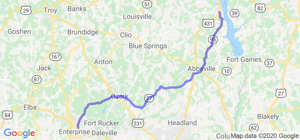 AL 27 to SR 27 to AL 95 |  Alabama