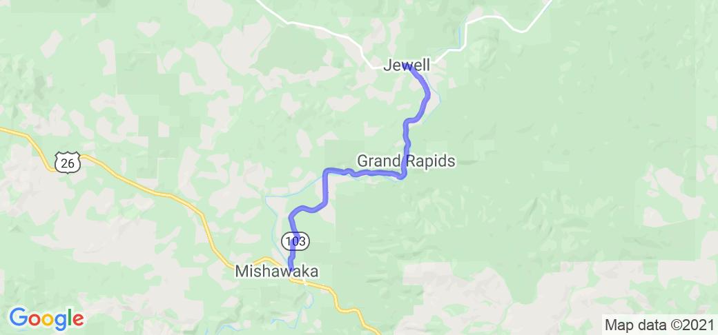 Oregon 103 - Elsie to Jewell    Oregon
