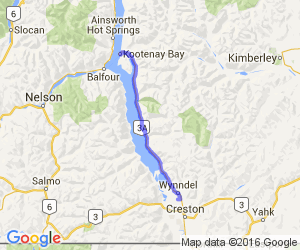 Creston, BC to Kootenay Bay |  Canada