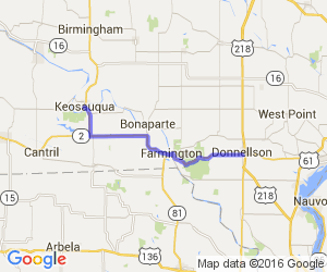 Donnellson to Keosauqua (Rt 2 & Rt 1) |  Iowa